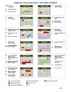 Edgewood NPS Academic Calendar 2019 2020   Edgewood Center for