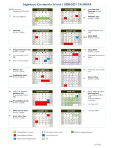 Edgewood Community School 2020-2021 Calendar